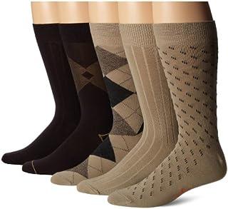 Dockers Men's Classics Dress Argyle Crew Socks, (Pack of 5)