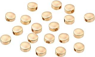 BENECREAT 20 PCS Perle Placcato 18K Oro Reale Perline per l'artigianato Accessori per Gioielli Fai da Te Colore Oro a Lung...