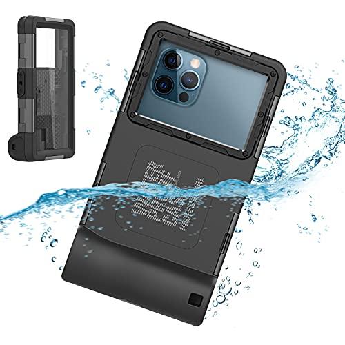 para iPhone 12 Pro Max Buceo Funda, Universal IP68 15m Impermeable Teléfono Carcasas para Todo Celulares de 4,7 a 6,9 pulgadas para Exterior Surf Natación Bucear Foto Video con Cordón de muñeca
