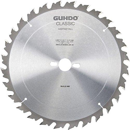 Guhdo classique HW Lame de scie circulaire 350 x 3,5 Alésage 30 mm/108 dents | Bois Fin/fabriqué en Allemagne