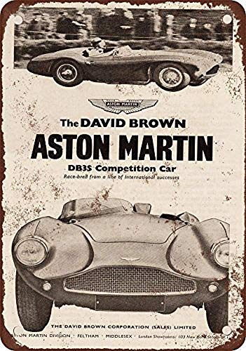 Aston-Martin Dbs Competition Car Retro Metal Painted Art Poster Metal Iron Painting Tin Wall Signs Decoration Plaque Warning Bar Cafe Garage Party Game Room Home Decoration