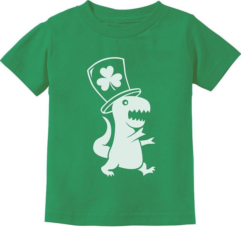 St Patricks Day Shirt Boys Irish T-Rex Dinosaur Clover Toddler Infant Outfit