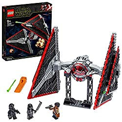 Fighter features an opening minifigure cockpit and two spring-loaded missiles; there's also a docking tower for launch, landing and to display Includes three minifigures: The First Order TIE Pilot, Knight of Ren and Finn minifigures with cool weapons...