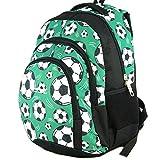Mochila Escolar Grande para niños y niñas (39 litros), Premium - yeepSport S119dx (Soccer Green)