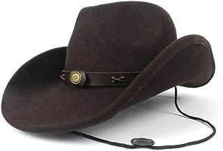 Lei Zhang 100% Wool Men Women Western Cowboy Hat With Belt Sombrero Hat Adult Church Hat Size 56-58CM