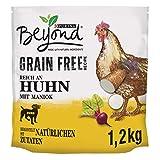 PURINA BEYOND Premium-Hundetrockenfutter getreidefrei, mit Huhn und Maniok, 2er Pack (2 x 1200 g Beutel)