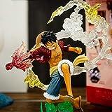 Anime One Piece Luffy Fire Punch Figure New World Version PVC Collection Nouveau Monde Modèle Figurine Décoration Ornements 17CM