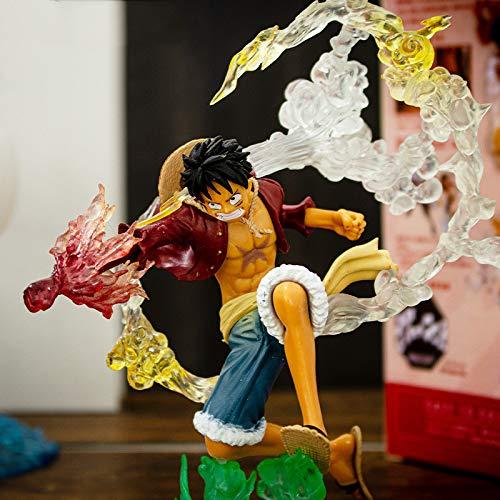 Anime One Piece Luffy Fire Punch Figure New World Versione PVC Collezione Nuovo Mondo Modellino Decorazione Ornamenti 17cm