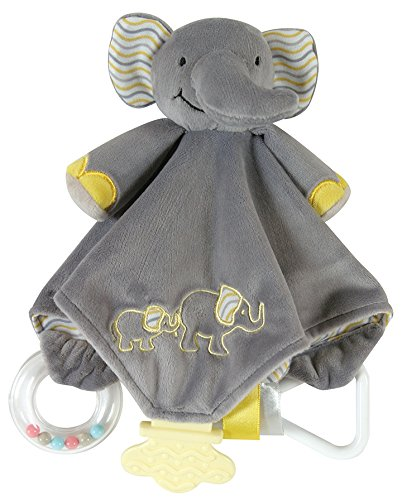 Product Image of the Stephan Baby Chewbie Activity Toy and TeeTher Security Blanket, Grey Elephant