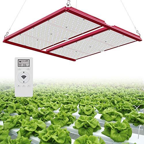 Bozily Pflanzenlampe LED Grow Lampe 200W Vollspektrum Pflanzenlampen mit 1-23H Timer,Dimmbar,Auto EIN/AUS, Version der Fernbedienung Led Grow Light für Hydroponik Zimmerspflanzen Wachsen