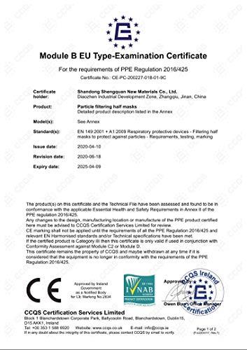 40 Stück – denkturm® FFP2 Maske, Atemschutzmaske, CE Zertifikat CE2834, geprüft EN149:2001+A1:2009 FFP2 NR - 2