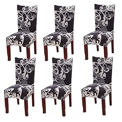 YISUN Universal Stretch Stuhlhussen 4er 6er Set Stuhlbezug für Stuhl Esszimmer Europäischer König