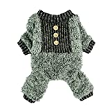 Fitwarm Fuzzy Velvet Thermal Pet Clothes for Dog Pajamas PJS Coat Jumpsuit Large