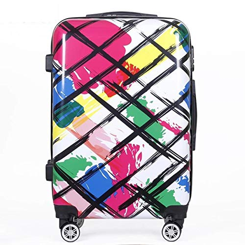Mdsfe trolley suitcase carry on travel suitcase bag quality luxury rolling luggage boarding password pc cute box 20/24 inch - Style-E, 20'