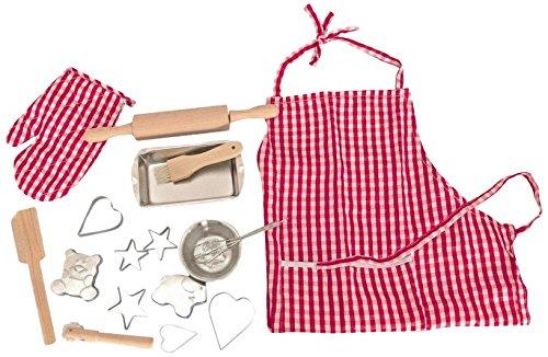 Woodyland Spielzeug-Backset mit Küchenzubehör (17-teilig)
