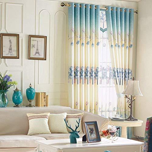 HXR Met liefde Chinese stok slaapkamer blackout eyelet blackout voor woonkamer met twee riemen passende backs 2 panelen (grootte: 1,5 * 2,7 m)