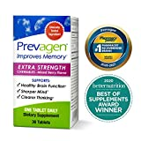 Prevagen Improves Memory - Extra Strength 20mg, 30 Chewables |Mixed Berry| with Apoaequorin & Vitamin D | Brain Supplement for Better Brain Health, Supports Healthy Brain Function and Clarity