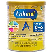 Enfamil A+ Stage 1: Infant Formula 400gm (0 to 6 months) Enfamil A+ Stage 1 infant formula is intended for babies from birth up to 6 months For detailed information about the product please refer to the pack label, Enfamil A+ Stage 1 is a routine for...