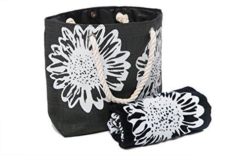AIREE FAIREE Bolsa de Playa Para Mujer + Toalla de Playa 2 Piezas Floral ⭐