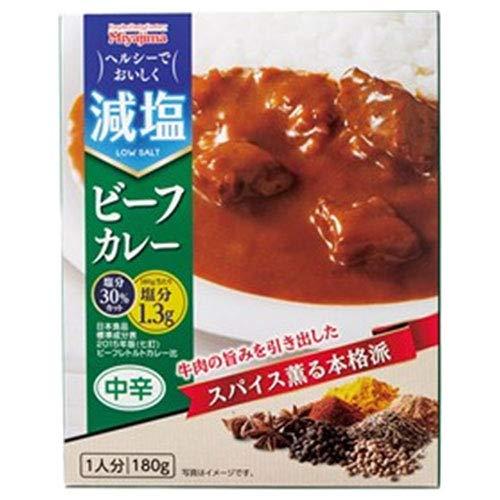 宮島醤油 減塩 ビーフカレー 180g×30箱入