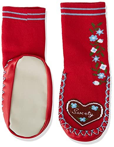 Playshoes Mädchen Hüttenschuh Landhaus Socken, Rot (rot 8), 27/30 EU