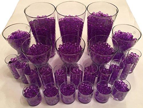 4000 Stück Wasser Kugeln Gel Bälle CHRISTAL ERDE CHRYSTAL Perlen Vasen Dekoration 11-15mm Durchmesser – Pflanzen Kerzen Blumen Wasserspender KRISTALL HINGUCKER (Violett)