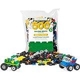 Play Platoon 500 Piece Building Bricks Kit - Car Building Set with Wheels, Axles & Windshields