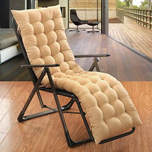 Cojín reclinable para tumbonas sillas reclinables bandas antideslizantes para exteriores jardín patio relajador con cojín para viajes de vacaciones (no incluye silla) (color azul, tamaño: 48 x 150 cm)