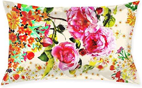 Just life Jardín Rosas Lumbar Pequeño Cojín Decorativo Cojín Cojín Cojín Cojín Serie Living Cojín Decorativo Cojín Diseño de Doble Cara 29.9'X 19.6'