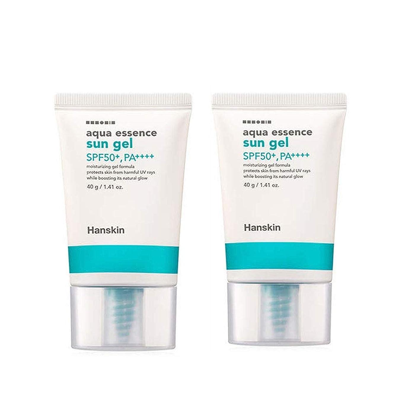 振り向く非公式請求可能ハンスキンアクアエッセンスサンゼル40gx2本セットサンクリーム韓国コスメ、Hanskin Aqua Essence Sun Gel 40g x 2ea Set Sun Cream Korean Cosmetics [並行輸入品]