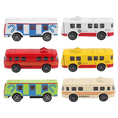 Jingyig Modelo de vehículo de autobús, Juguete de vehículo de Cabeza de aleación de Alta simulación, Hermoso para niños, Regalo, hogar para niños((Alloy Tram-6 Sets))