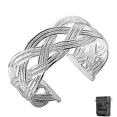 Andruscha Armband Armreifen 925 Sterling Silber plattiert Schmuck Ø 6,5 cm D028