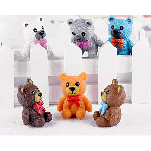Rainbow Bear Figures Cake Topper Toy
