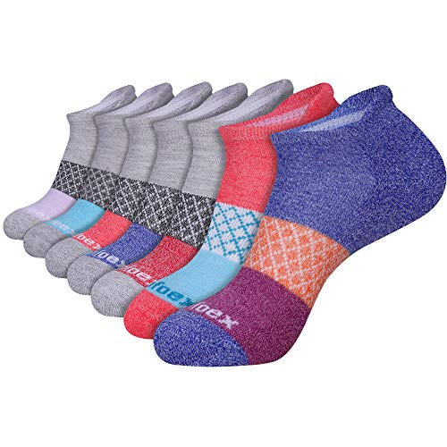 Comfoex Womens Ankle Socks 7-Pack Cushioned Athletic Running Socks with Tab