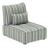 Marca Amazon -Alkove Elvas - Módulo uniplaza con almacenaje y cojín adicional para sofá modular, 70 x 100cm, de lunares