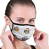 Set Elements Design - Máscara de borde negro para adultos, diseño plano, diseño de Racoon, protector facial portátil, bandana, borde elástico, pasamontañas