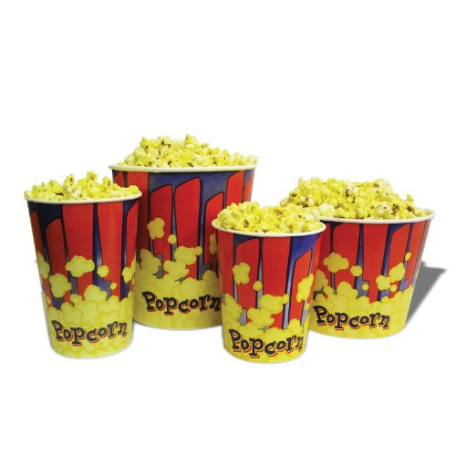 Affordable Benchmark 41485 Party Occasion 50 - 85 oz. Popcorn Tubs
