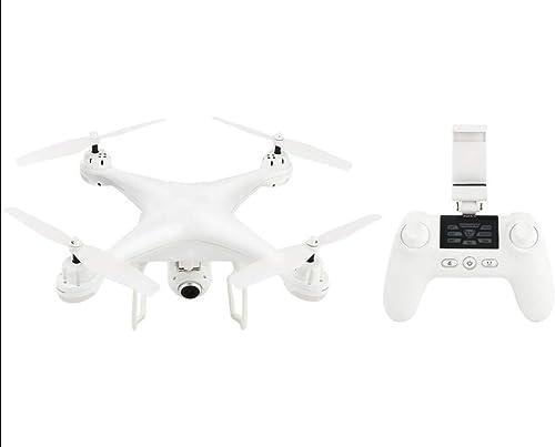 LFLWYJ Drone aérien, Double positionneHommest Intelligent GPS, Avion à 4 Axes (Noir, Blanc) (Couleur   Blanc)