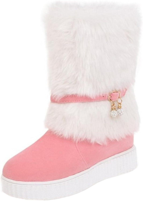 KemeKiss Women Winter Snow Boots Pull On