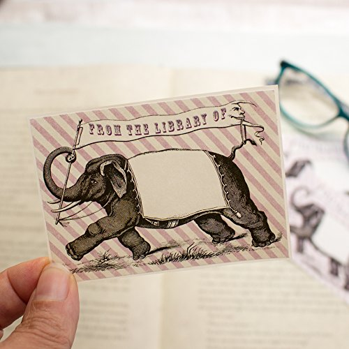 Elephant Bookplates for Children, Book Stickers for kids, From the Library Of Book Labels, Set of 20