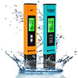 PH Meter and TDS PPM Meter Pen Type Combo,0.01 High Accuracy ph Tester Digital, ± 2% Readout Accuracy 3-in-1 TDS&EC Meter Temperature Meter,for Household Drinking, Pool and Aquarium, Laboratory