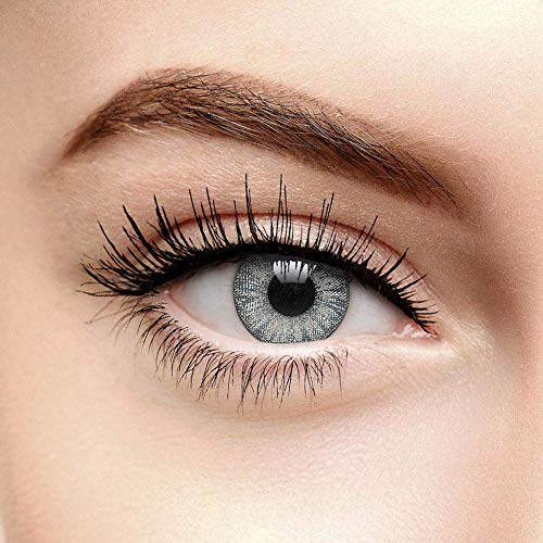 Chromaview Farbige Kontaktlinsen Ohne Stärke Sturmwolke Grau (90 Tage)