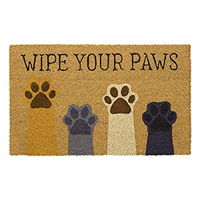 "Avera Products | Wipe Your Paws, Natural Coir Fiber Doormat, Anti-Slip PVC Mat Back | 29"" x 17"""