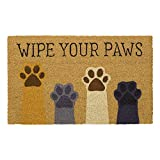 Avera Products   Wipe Your Paws, Natural Coir Fiber Doormat, Anti-Slip PVC or Latex Mat Back