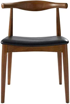 Nordic Horns Chair Solid Wood Dining Chair Nordic Fashion Solid Wood Chair Western Restaurant Solid Wood Dining Chair Restaurant Hotel Coffee Chair