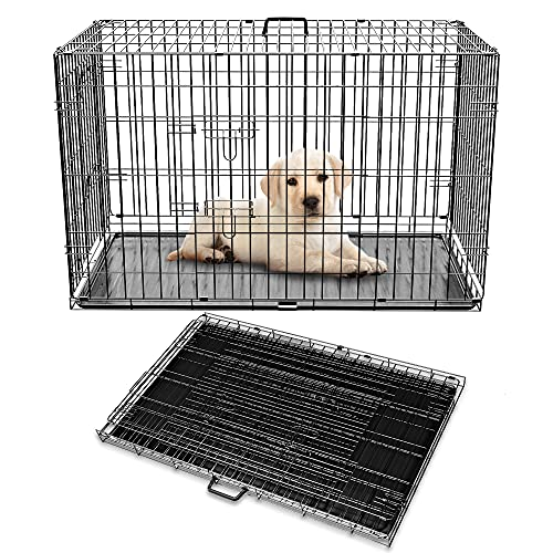 """Pet Adore Dog Crate with Removal Kennel Tray, 20"""" - 48"""", Dual Opening..."""