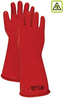 Magid M014R A.R.C. Natural Rubber Latex Class 0 Insulating Glove with Straight Cuff, Work, 14