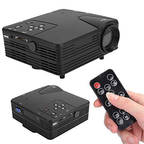 Zunate Mini-Peojector, tragbarer 1080P 80LM-Heimkino-Filmprojektor mit 20000 Stunden LED-Lampenlebensdauer, Unterstützung für VGA/AV/HDMI/TF-Kartenein- und -Ausgang