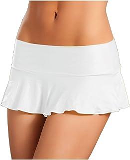 Mapalé by Espiral Women`s Sexy Basic Ruffle Mini Skirt