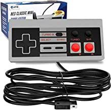 Ortz NES Classic Edition Mini Controller [Turbo Edition] Rapid Buttons for Nintendo Gaming System [Nintendo NES] (Wired)